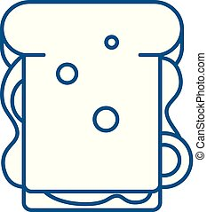 Sandwich line icon concept. Sandwich flat vector symbol, sign, outline illustration.