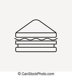 Sandwich line icon