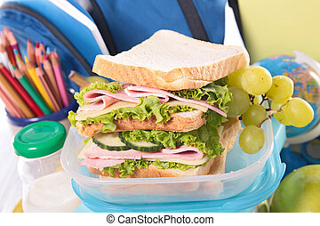 sandwich, lunchtime