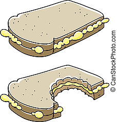 sandwich, morsure