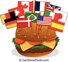 sandwich, multi-ethnique