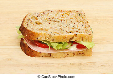 Sandwich on a board