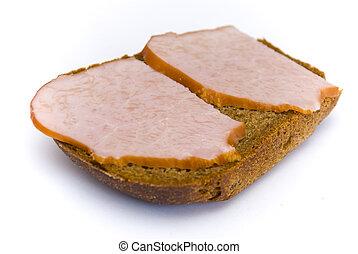 sandwich on a white background