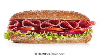 sandwich on white background