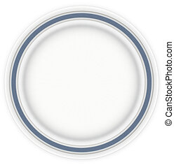 Sandwich Plate with Blue
