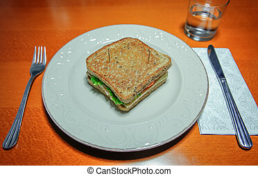 Sandwich ready to eat served in a plate