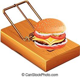 sandwich, souricière
