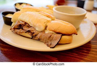 sandwich, trempette, francais