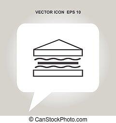 sandwich vector icon