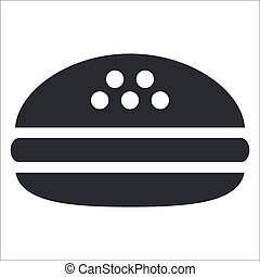 Sandwich - Vector illustration of isolated black and white...