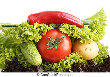 sandwich, vegetables.