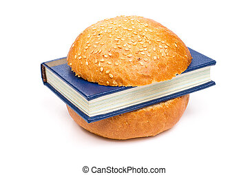 Sandwich with a book