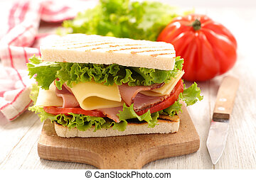 sandwich with cheese and tomato