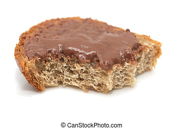 sandwich with chocolate oil