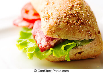 sandwich with cold cuts