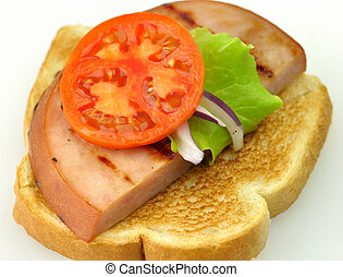sandwich with grilled ham