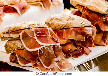 sandwich with ham and cheese, in Lisbon Capital City of Portugal