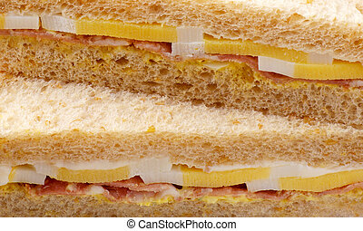 sandwich with ham and cheese, macro