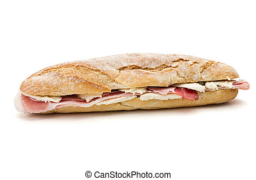 sandwich with ham and cheese - sandwich with mozzarella ...