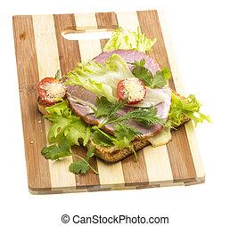 Sandwich with ham