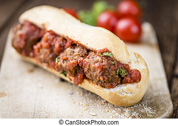 Sandwich with Meatballs - Homemade sandwich with Meatballs...