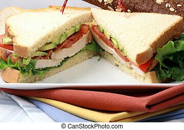 sandwich with oven roasted turkey - Fabulous turkey sandwich...