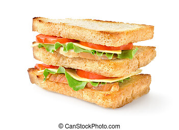 Sandwich with vegetables isolated