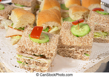 Sandwiches 1 - Sandwiches on a silver tray