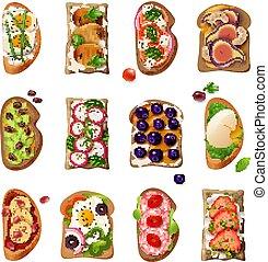 Sandwiches Cartoon Set