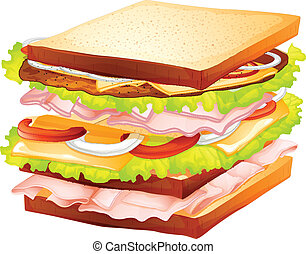 Sandwiches - Illustration of a healthy sandwiches
