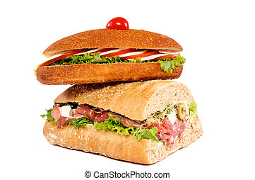 Sandwiches isolated