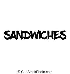 sandwiches rubber stamp