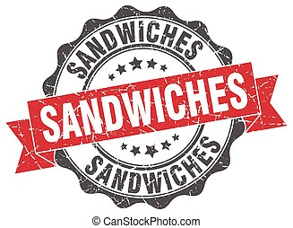 sandwiches stamp. sign. seal