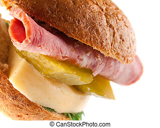 sandwiches with cheese and ham .