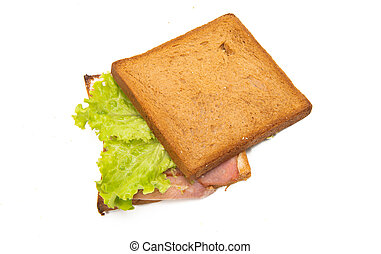 sandwiches with ham isolated