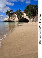 Sandy beach cave