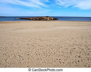 Sandy beach great for summer vacation