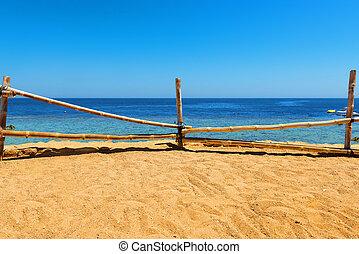 Sandy beach in egyptian
