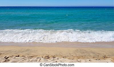 Sandy beach in Piana, Corsica, France