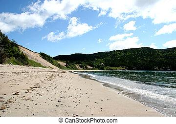 Sandy Beach in Rural Newfoundland