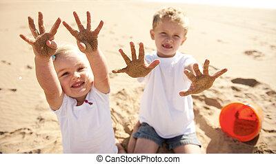Sandy beach kids