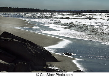 sandy beach of Lake Superior