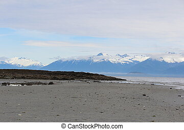 Sandy Beach on Alaska Island