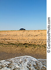 Sandy beach on the Black Sea coast