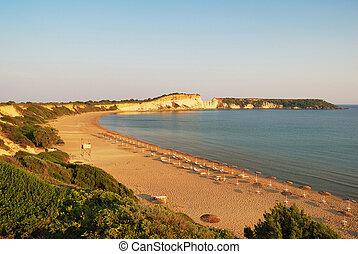 Sandy Beach on the island of Zakynthos