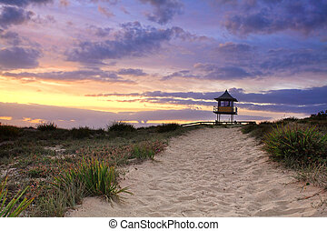 Sandy Beach Path, Sunrise