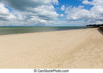 Sandy beach Ryde Isle of Wight uk