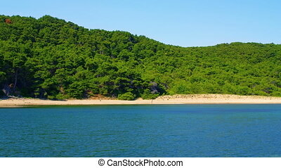 Sandy beaches on the island Mljet