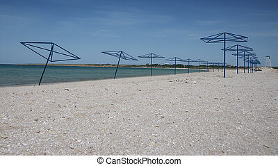 Sandy coast of the Black Sea
