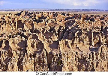 Sandy Landscape of Badlands